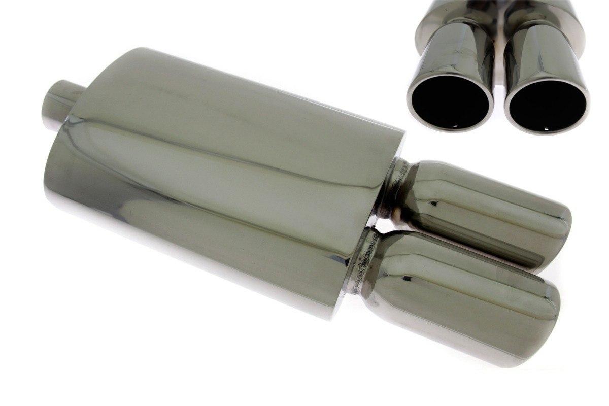 Tłumik Końcowy TurboWorks 2x90mm wejście 63,5mm - GRUBYGARAGE - Sklep Tuningowy